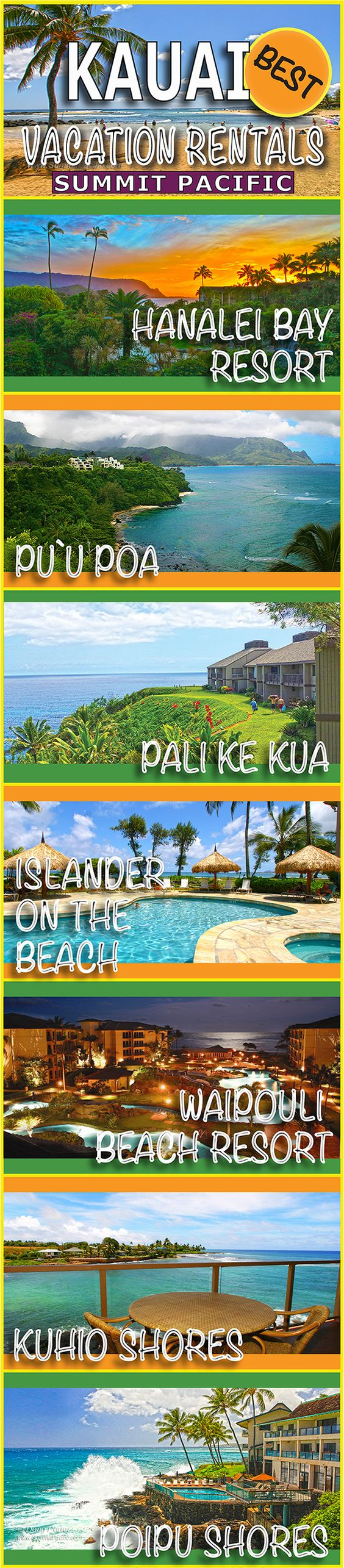 Kauai Condo Rentals #Hawaii #Kauai #Vacation