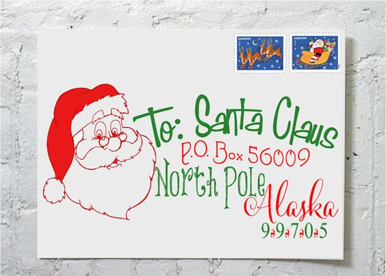 Best  Santas Address North Pole Ideas On   Post