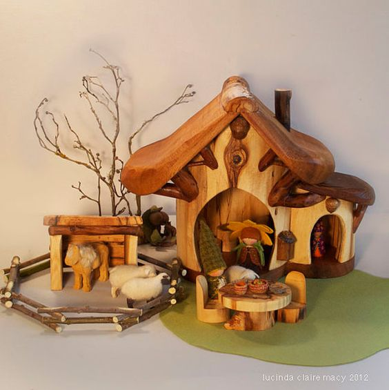 So Sweet and beautiful!  I love how open this toy is, for boys and girls!  Willodel makes the most beautiful gnome homes!
