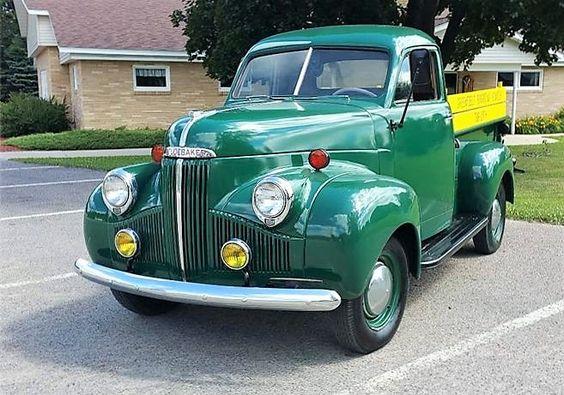 The Studebaker pickup looks factory fresh  1947 Studebaker M5 pickup truck