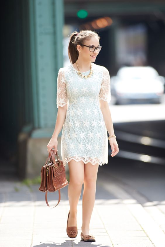 ChicWish Mint Lace dress.