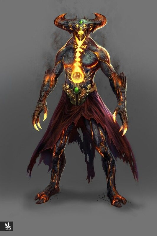 This is a digital concept art of the Corrupted Shinnok from Mortal Kombat X. The thing I like about this piece of artwork is how the artist has used reds, oranges and yellows to give a lava effect to the character, and then uses opacity to give a heat/ smoking effect to the character.