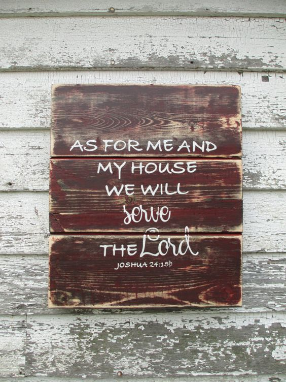 As for me and my house rustic sign by TrueRootsDesigns on Etsy