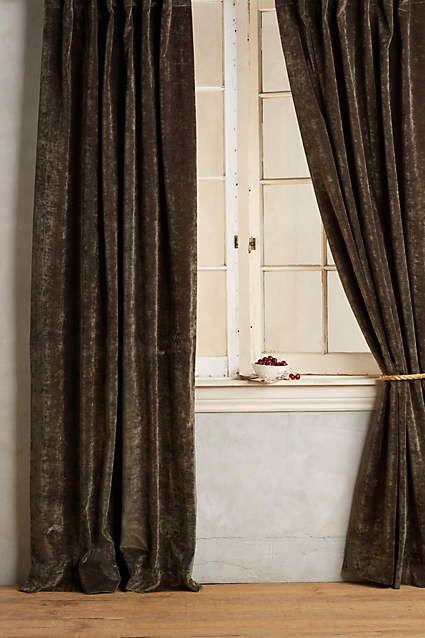 Slub Velvet Curtain - anthropologie.com