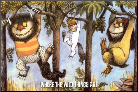 Where The Wild Things Are - Hanging From Trees Mounted Print by Maurice Sendak…