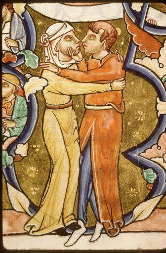 QUAND ON JOUE A JE TE TIENS PAR LA BARBICHETTE (Alexandre et Théo  Pétrieux 5EME B) 1182-1195,Paris,bibl.Sainte-genievre ms,0009,f125v-viue 5 loves is in...