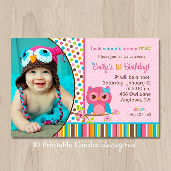 Owl Birthday Invitations, Mod Girl And Birthday