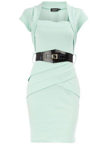 Mint Panel Bolero Dress. Such a sexy retro-inspired silhouette. Wow.