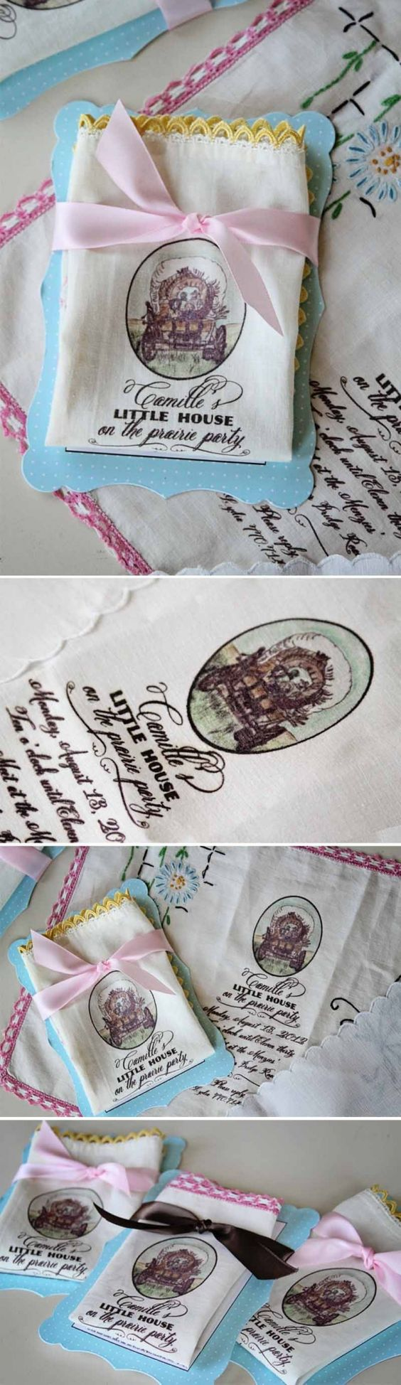 Loralee Lewis Handkerchief Little House on the  Prairie Invitation: Birthdays Party, Invitations Party, Little House, Party Themes, Handkerchief Invitations, Lewis Handkerchief, House Party, Party Ideas