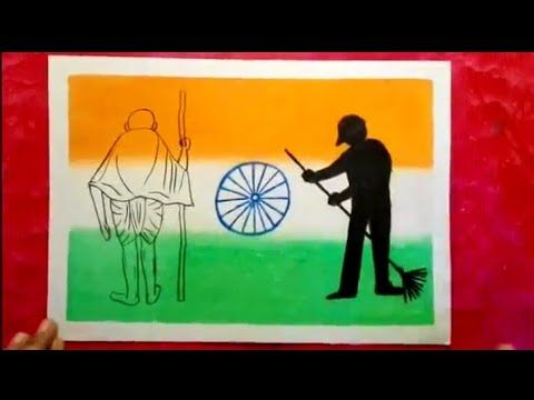 Clean India Drawing Swatch Bharat Drawing For Kids Step By Step Youtube Mini Drawings Drawing For Kids Poster Drawing