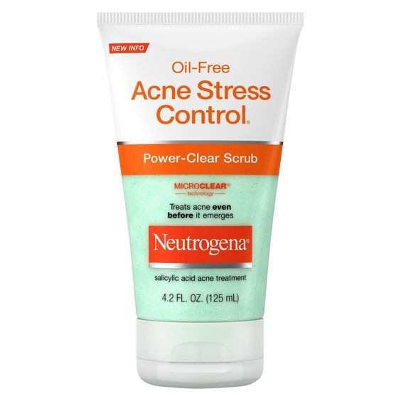 Neutrogena® Oil-Free Acne Stress Control® Power-Clear Scrub - 4.2 fl oz : Target