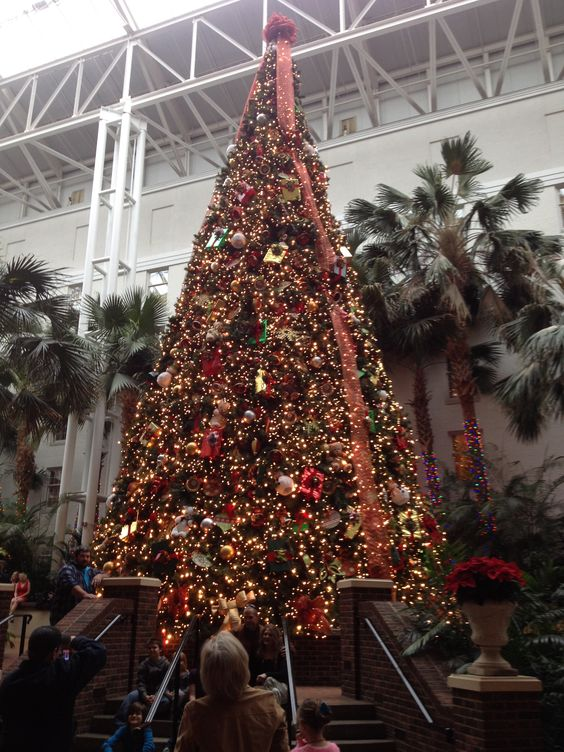 Gaylord OpryLand Convention Center was decked out for Christmas.