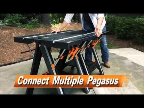 Bancada Multiuso Cavalete Worx Pegasus Wx051 Cavalete Multiuso