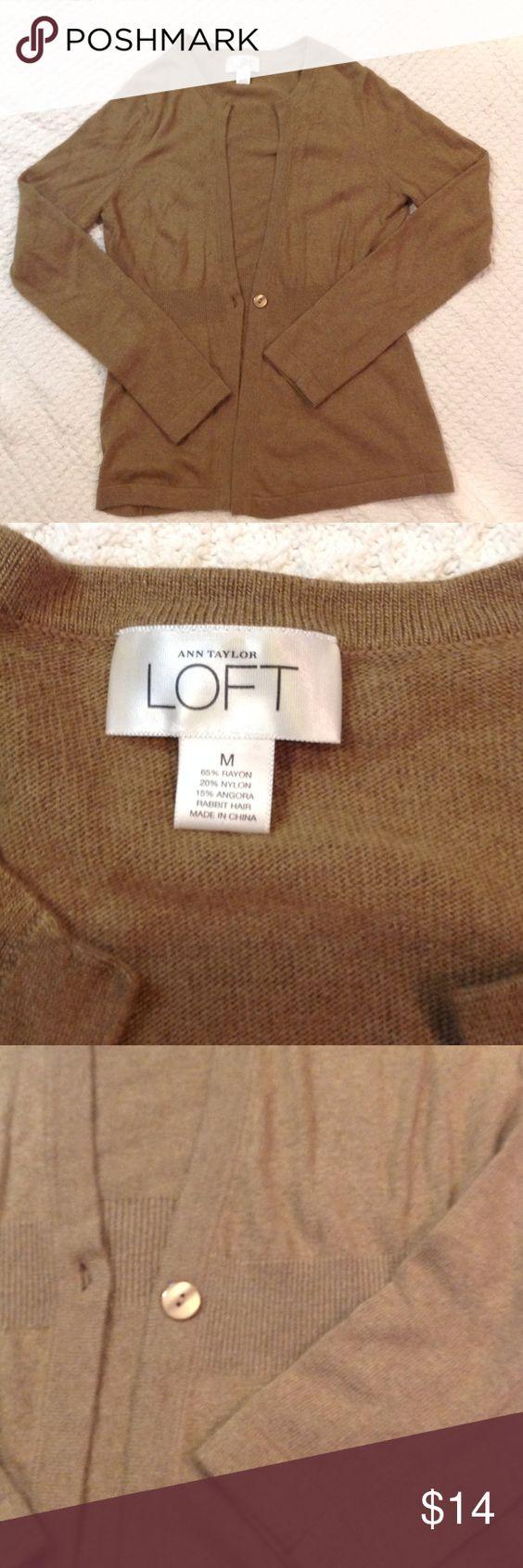 Loft super soft sweater Loft cardigan in excellent shape. One button closure. LOFT Sweaters Cardigans