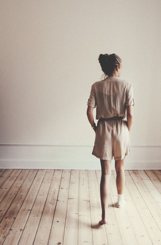 : Intriguing Photography, Romper Verilystyle, Fashion Photos, Taupe Outfit, Hardwood Floors, Fashion Photography, Rompers Jumpsuits, Nude Romper