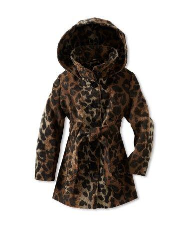 60% OFF Via Spiga Girl's 7-16 Stylish Leopard Print Hooded Coat (Leopard) say wha??