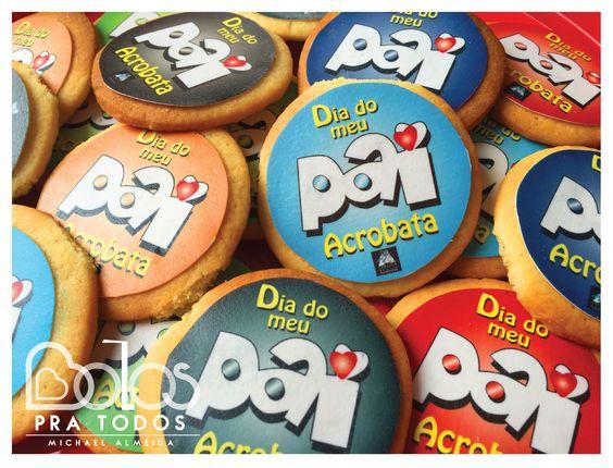 Bolachas Dia do Pai Acrobata - Bolos Pra Todos bolospratodos@gmail.com