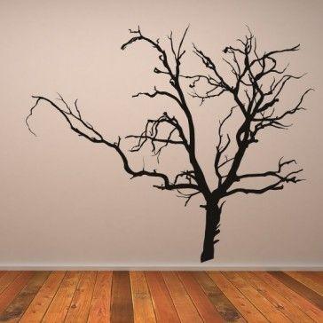 Scary Bare Tree Wall Stickers Kids Bedroom Monsters Wall Art Decal - Halloween - Seasonal