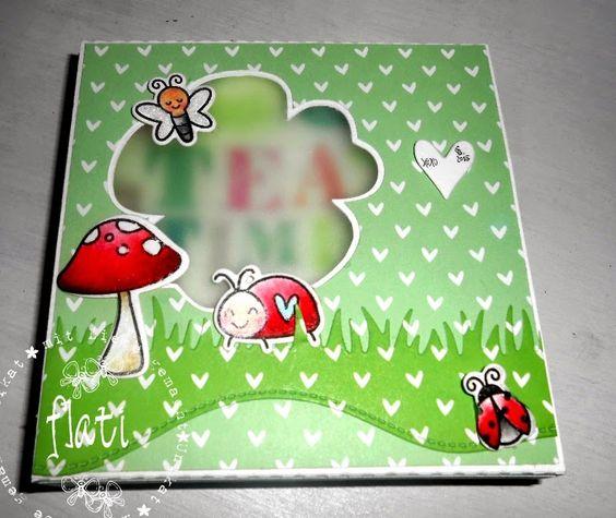free cut files and tutorial PAPER NAPKIN BOX SINGLE PACKET (11cm x11cm) box ♥ Flati s stamp World ♥: V3 freebies