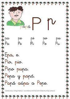 Fichas lectura     http://maestraadame.blogspot.com.es/2012/02/letras-p-l-s-m-n-y-n.html