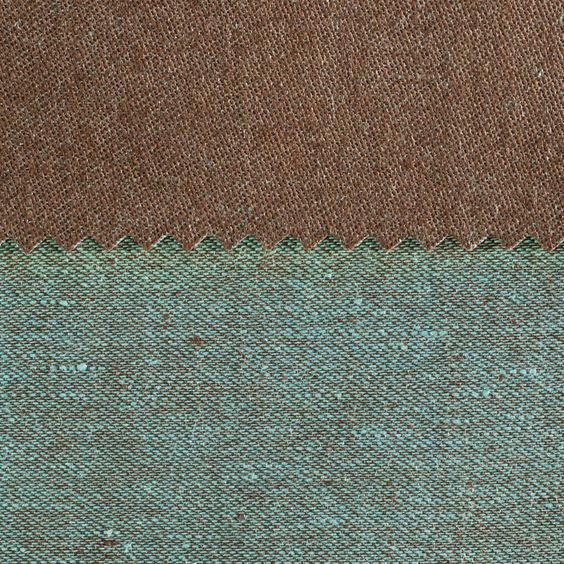 ANICHINI Fabrics | Janus Chestnut 16 Residential Fabric - a brown double faced linen fabric