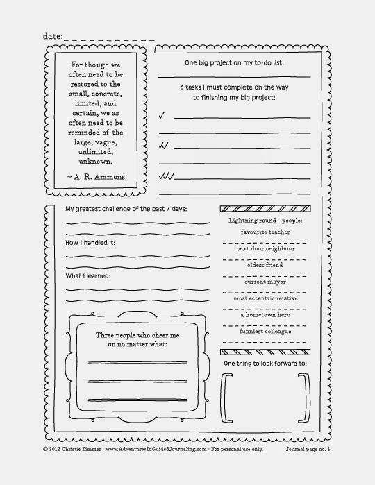 Free fill in the blanks journal pages from http://www ...