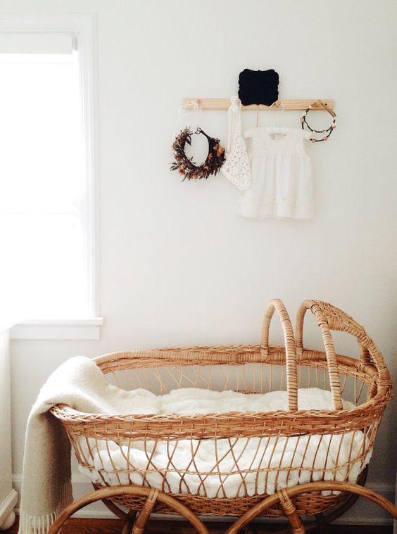 Handmade Crib Handmade Baby Baskets Modern Kids Room Bassinet
