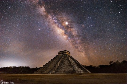 Milky Way Over Pyramid Of The Feathered Serpent Robert Fedez With Images