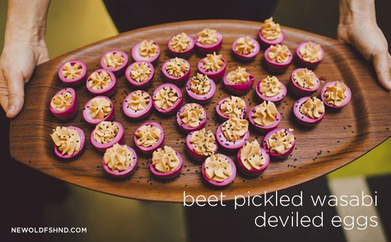 recipe: Beet Pickled Wasabi Deviled Eggs — New Old Fashioned