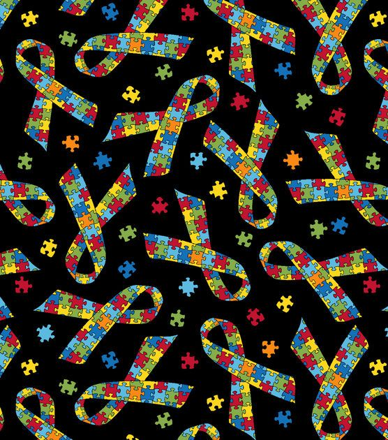 Item # 13558325Anti-Pill Fleece Fabric Puzzle Pieces On Black