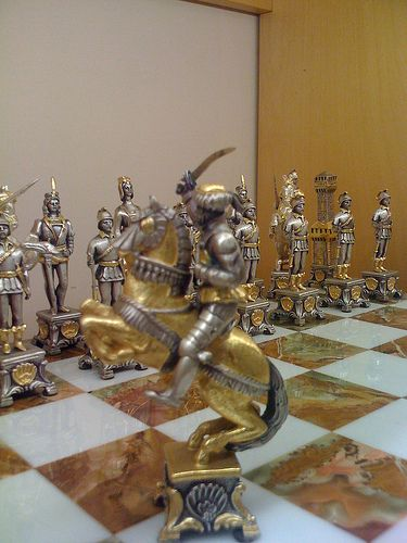 Chess set in Florence:
