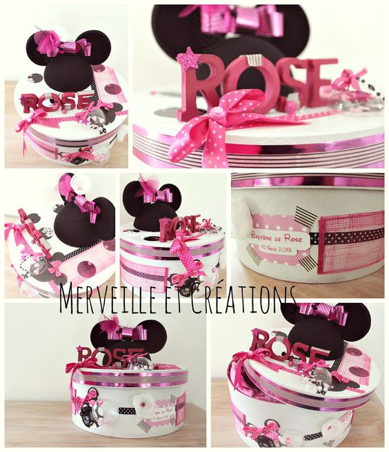 Urne bapt me th me minnie mouse boite pinterest for Idee deco urne bapteme