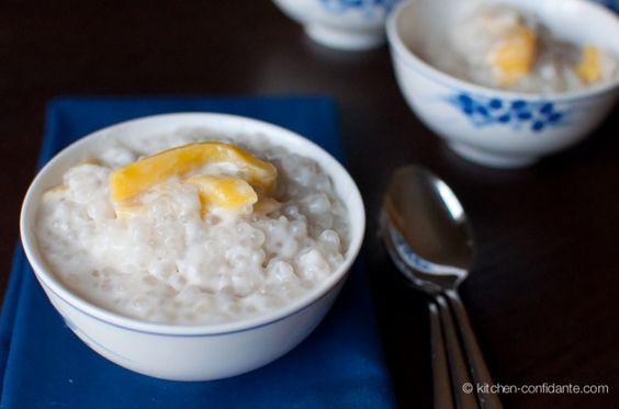 ... Bilo-Bilo (Filipino Coconut Tapico Pudding with Glutinous Rice Balls