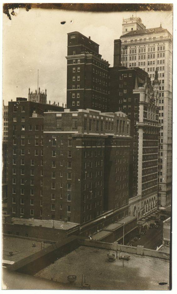 Late 1920s downtown Dallas Texas original vintage ...