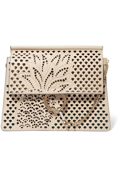 Ivory leather (Calf) Snap-fastening front flap Comes with dust bag Weighs approximately 3.3lbs/ 1.5kg Made in Italy
