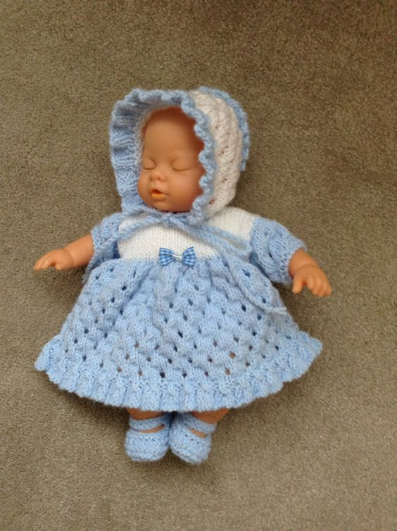 Hand knitted dolls clothes to fit 12/13 by HandKnittedbyme on Etsy