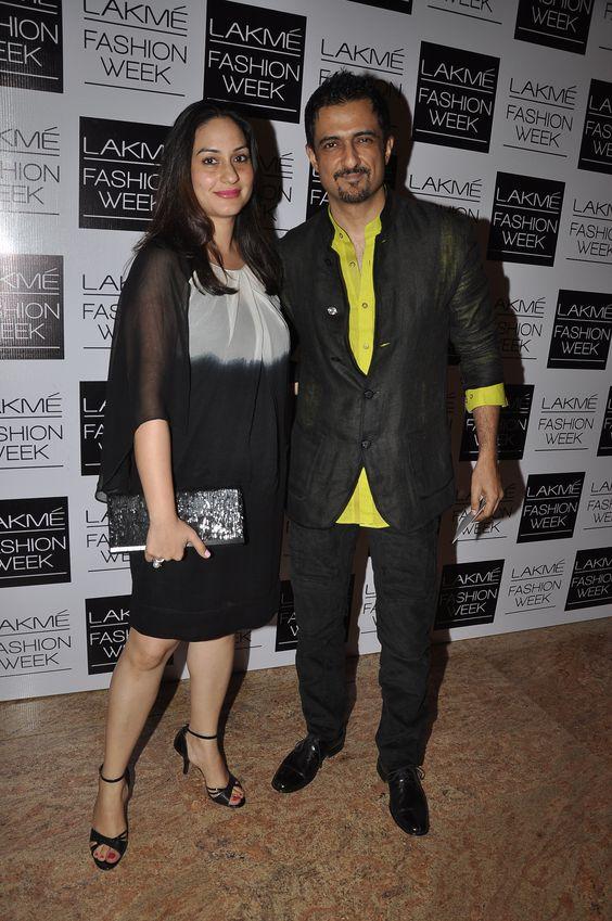 Ambika Suri and Sanjay Suri at Lakme Fashion Week. The Jaipur Bride 2013.