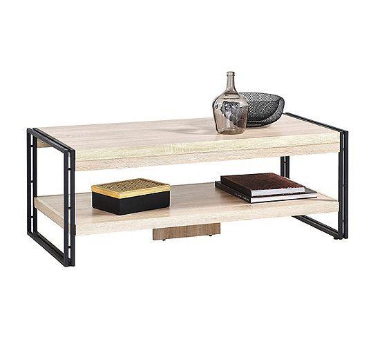 Table Basse Style Industriel Parker Imitation Bois Et Noir Table Basse But Table Basse Style Industriel Table Basse Style Industriel
