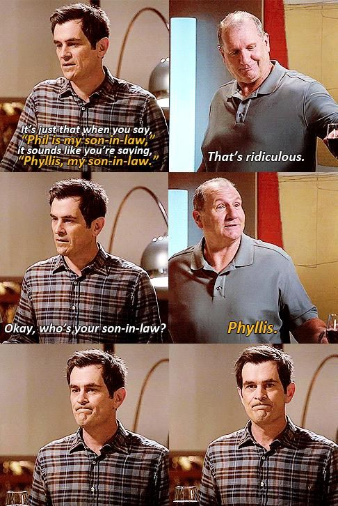 Who's your son in law?  ...Phyllis.  LOL!