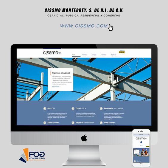Diseño de página web para Cissmo Monterrey, S. de R.L. de C.V.  #Saltillo #Monterrey #Moclova  www.cissmo.com