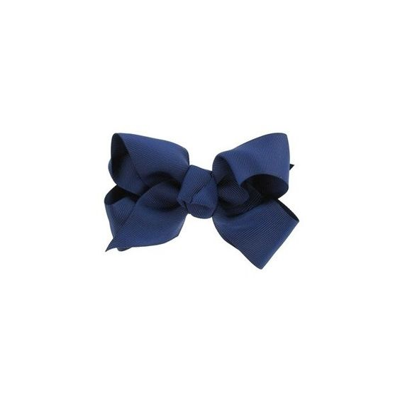 Navy Bow (£2.10) ❤ liked on Polyvore featuring bows