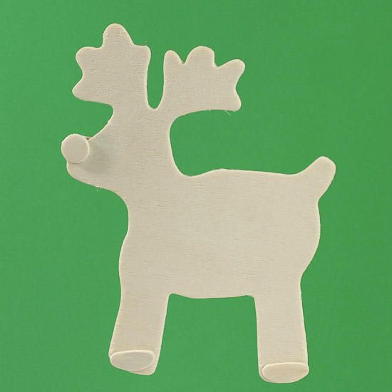Unfinished wood reindeer and woods on pinterest for Wooden christmas cutouts