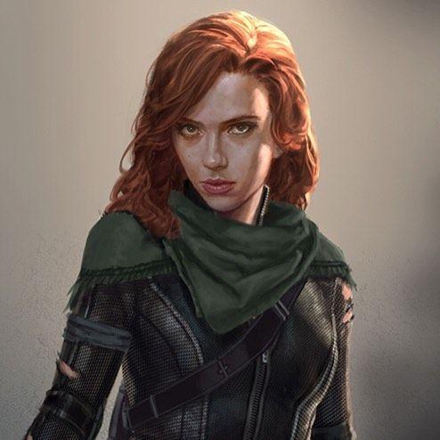 Marvel Black Widow Woman Drawing Figure Drawing Women