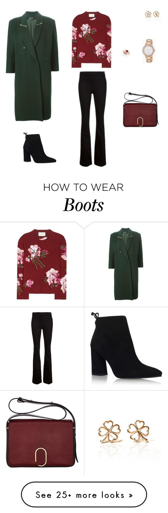 """Gucci"" by sebolita on Polyvore featuring Gucci, Frame Denim, Stuart Weitzman, 3.1 Phillip Lim, Kate Spade, Manja and Claude Montana"