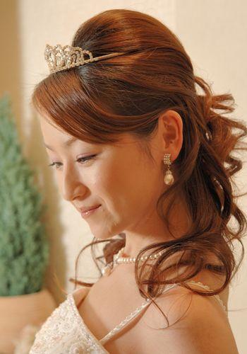 スタイルアップ, ハーフアップ, 結婚式のヘアスタイル, ティアラ, 検索, Tiara Half