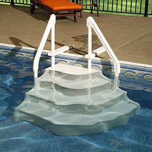 Ladder consideration and boats on pinterest - Above ground swimming pool supplies ...