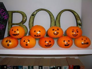 Jack o lanterns from Clementines