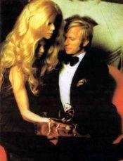1972 Rothschild (Illuminati) party - woman mask sitting on man