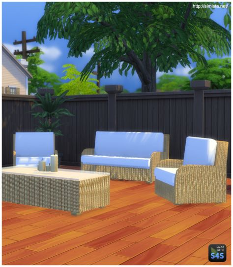 Simista patio wicker furniture sims 4 downloads the sims 4