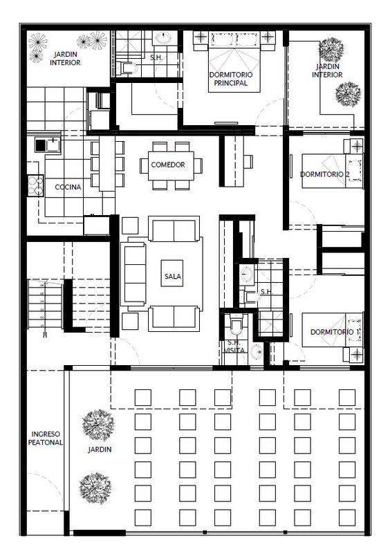 Cristian campos dise o de vivienda multifamiliar en - Planos de viviendas ...